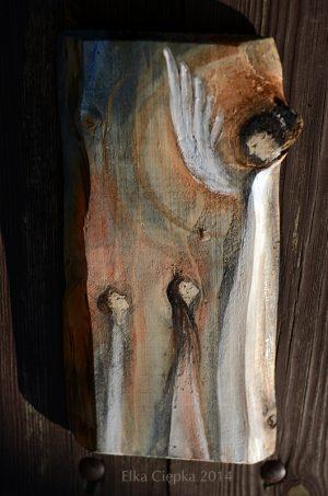 Anioł Rodzicielstwa - wyjatkowy prezent dla rodziców i całej rodziny| Angel painted on wood