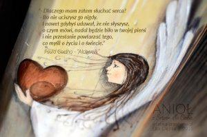 """""""Anioł z Sercem dla Ciebie"""" i cytat Paulo Coelho z książki """"Alchemik"""""""
