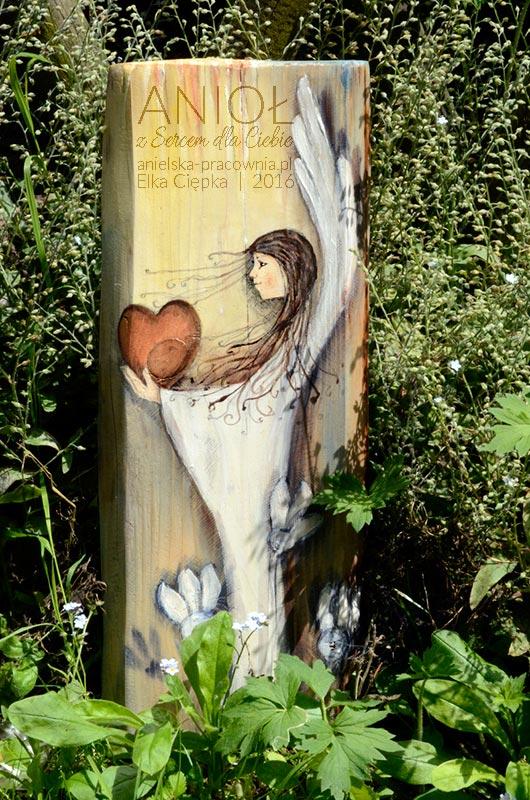 Anioł z Sercem dla Ciebie - prezent na chrzciny, komunię, ślub jako wyrażenie najlepszych życzeń