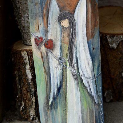 Anioł Połączonych Serc to anioł dla dwojga - dla zakochanych i wciąż kochających się