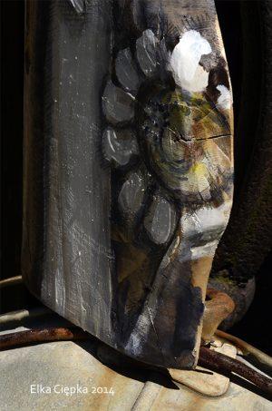 Anioł Serdeczności malowany na desce - prezent na każdą okazję