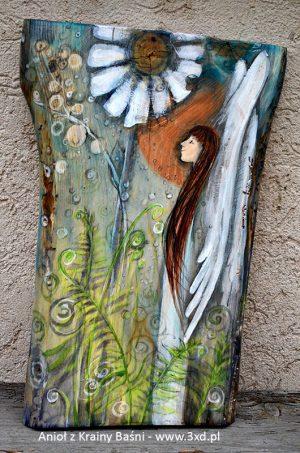 Anioł z Krainy Baśni - najlepszy prezent dla maluszka na chrzciny| Angel painted on wood