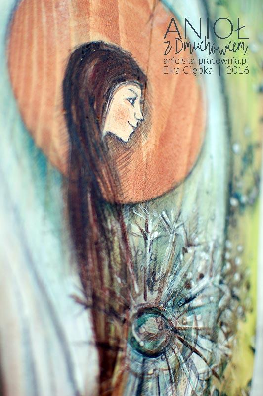 Anioł z Dmuchawcem dla tych, którzy kochają naturę i uwielbiają przebywać w jej objęciach - na łące, polanie, w lesie i na polnych ścieżkach