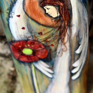 Anioł Pięknych Uczuć może być podarowany każdemu, wobec kogo żywimy piękne uczucia| Angel painted on wood