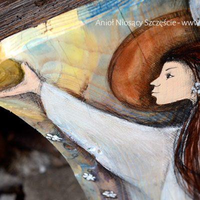 Anioł Niosący Szczęście - dla tych, którym życzymy wiele szczęścia!| Angel painted on wood