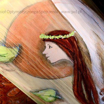 Anioł Optymistycznego Spojrzenia | Przynosi optymizm i wiosenny powiew | Prezent dla każdego na nowe, lepsze dni!| Angel painted on wood