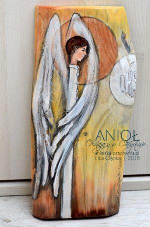 Anioł Otulający w Chrystusie to prezent dla chłopca z okazji Pierwszej Komunii Świętej