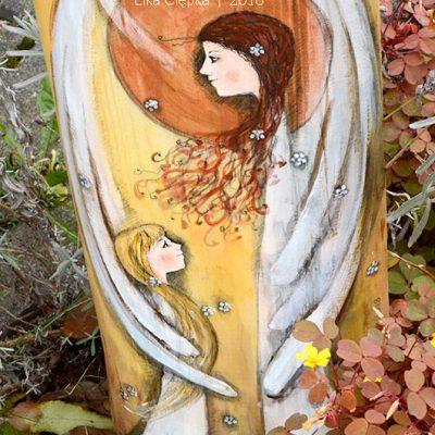 """""""Złocisty Anioł Stróż"""" jest oryginalnymprezentem zarównonaChrzest Święty, jak i na Pierwszą Komunię Świętą oraz kolejne wydarzenia w życiu dziecka"""