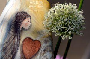 Anioł Złotego Serca - pamiątka na chrzest święty lub pierwszą komunię